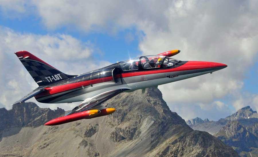 Advanced Military Training Aircraft Aerchi M 346 Stock Photo