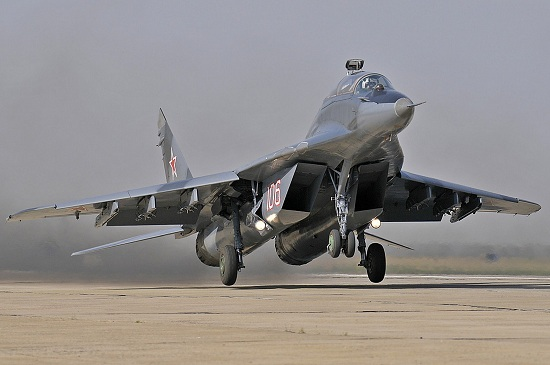 Flight in a MiG-29 supersonic fighter jet