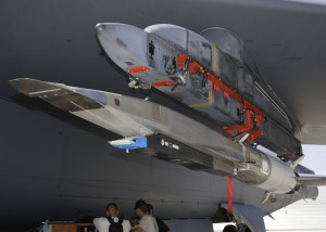 X-51A Waverider under the wing of a B-52