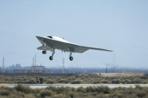 X-47B drone first flight