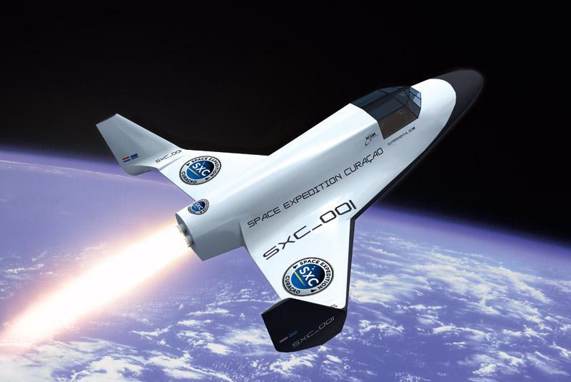 Xcor Lynx Space Flight - The image shows the Lynx Mark-II